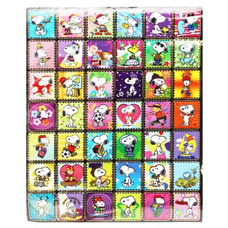Snoopy Outdoor Activities Faux Postage Stamp Stickers 42