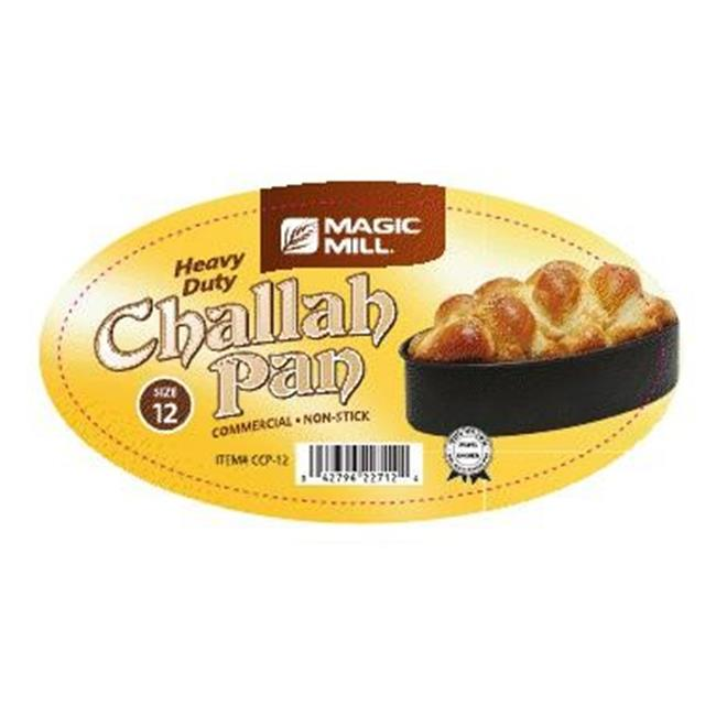 Magic Mill NCCP11 11 in. Oval Challah Pan, Non Stick by Magic Mill