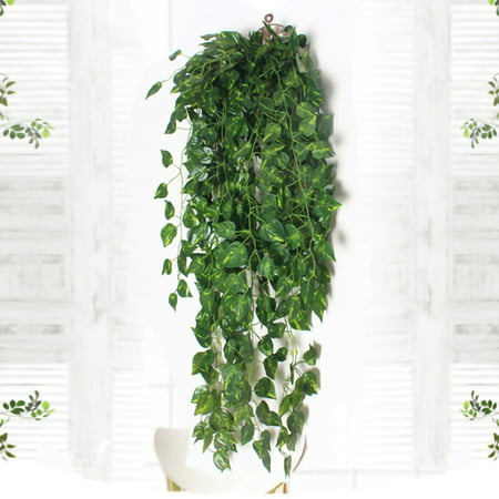 Fake Ivy Leaves (NK 2 Bunch 3ft Artificial Ivy Outdoor Fake Hanging Vine Plant Leaves Garland Home Garden Wall Foliage Decor Artificial)