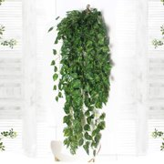 NK 2 Bunch 3ft Artificial Flower Ivy Outdoor Fake Hanging Vine Plant Leaves Garland Wedding Home Garden Wall Foliage  Decor Artificial Hanging Plants