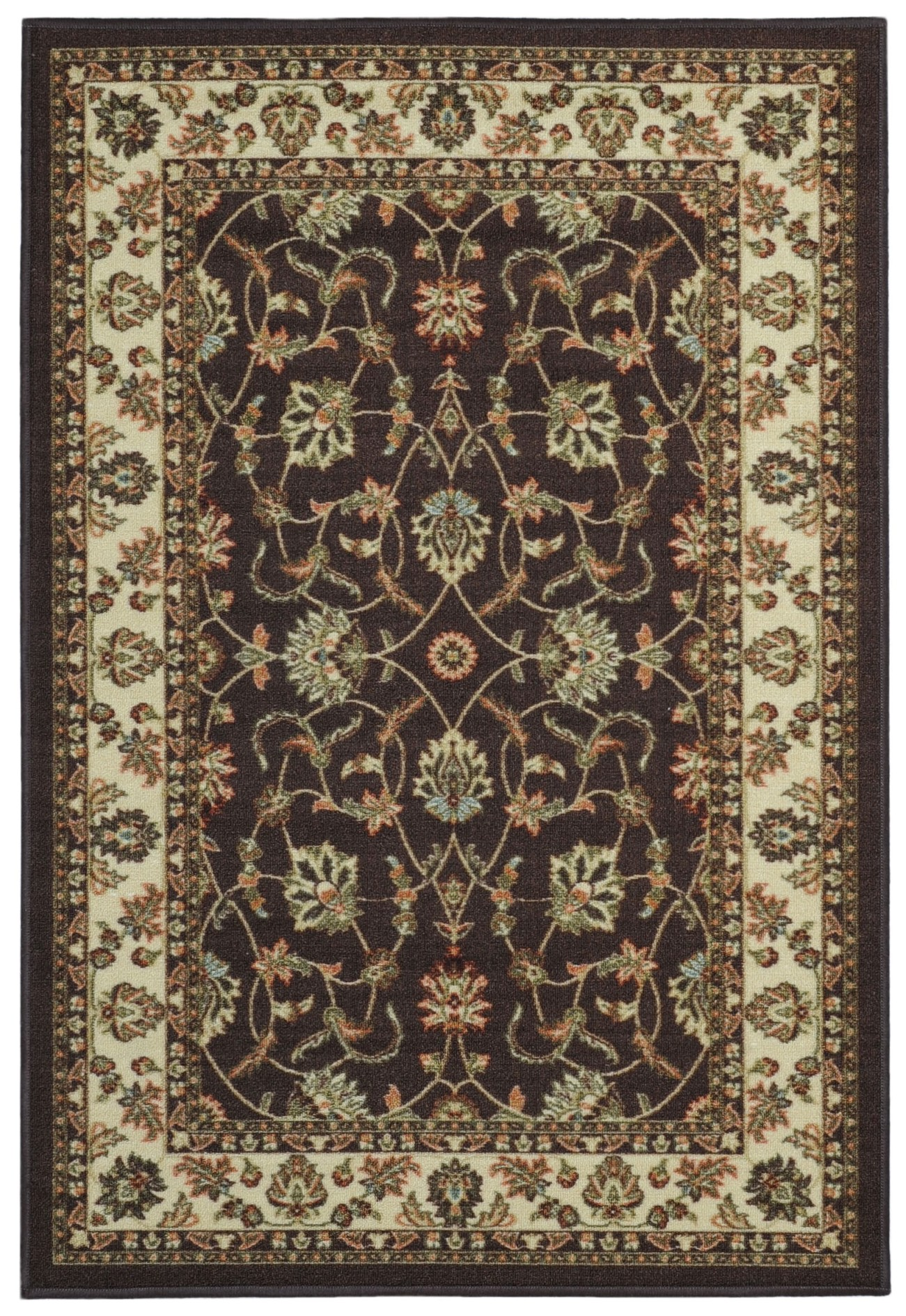 Maxy Home Hamam Collection HA-5088 (Non-Skid) Rubber Back Area Rug 60-inch-by-78-inch 5'x'7' by Rugnur
