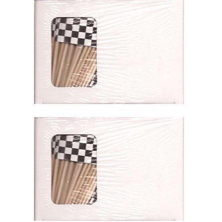 2 Boxes of Black and White Toothpick Flags, 200 Checkered Black and White Toothpicks or Cocktail Picks