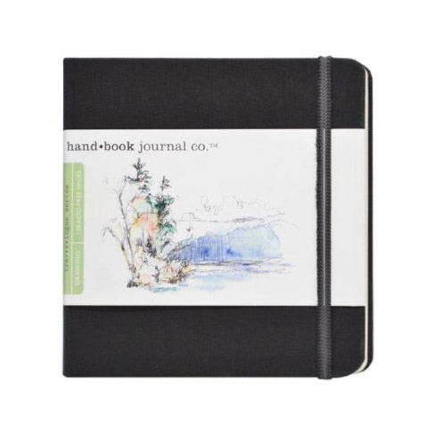 """Hand Book Journal Co. Artist Journal 5.5"""" x 5.5"""" The Square Ivory Black"""