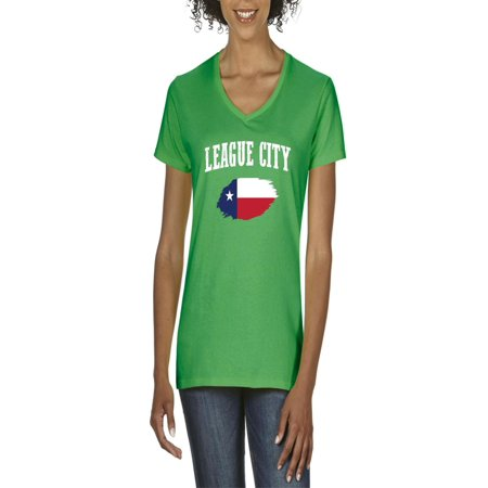 league city texas women v neck t shirt walmartcom