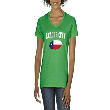 league city texas women v neck t shirt walmartcom