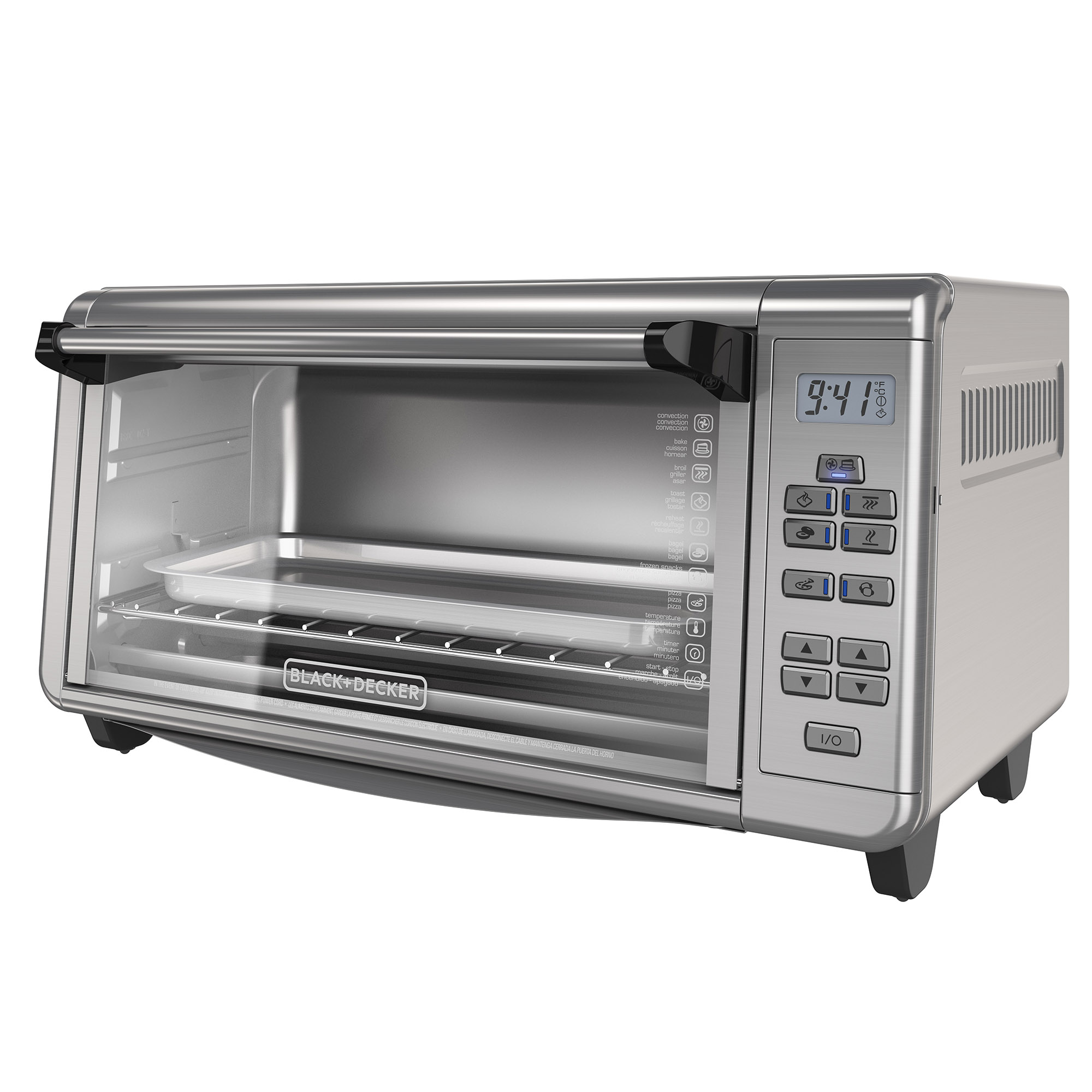 Black & Decker Digital Stainless Steel Extra-Wide 8 Slice Convection Countertop Toaster Oven, 1 Each