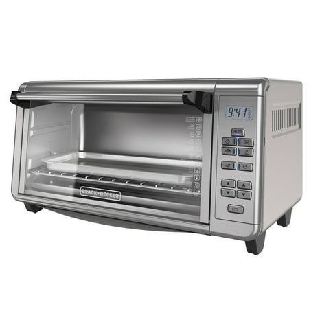 Black & Decker Digital Stainless Steel Extra-Wide 8 Slice Convection Countertop Toaster Oven