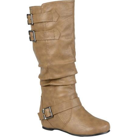 299bb41c5ba Brinley Co. - Women Buckle Detail Wide Calf Boots - Walmart.com
