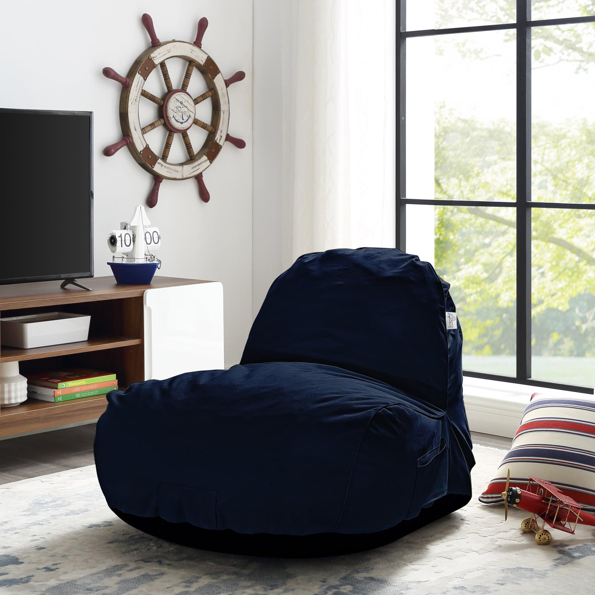 Cosmic Grey Foam Lounge Chair - Nylon   Indoor/ Outdoor   Self Expanding   Water Resistant   Bean Bag Chair
