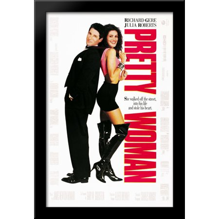 FrameToWall - Pretty Woman 28x40 Large Black Wood Framed Print Movie Poster Art (Pretty Wool)