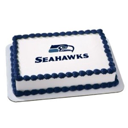 NFL Seattle Seahawks Cake Decoration Edible Frosting Photo Sheet