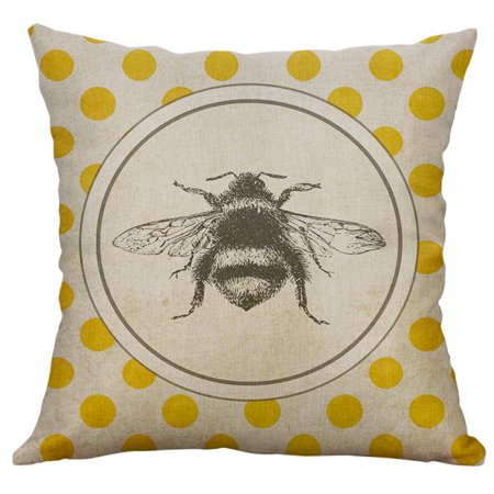 Vintage Insect Series Cotton Linen Throw Pillow Case Cushion Cover Home Decor 360 Cushioned Cotton Series