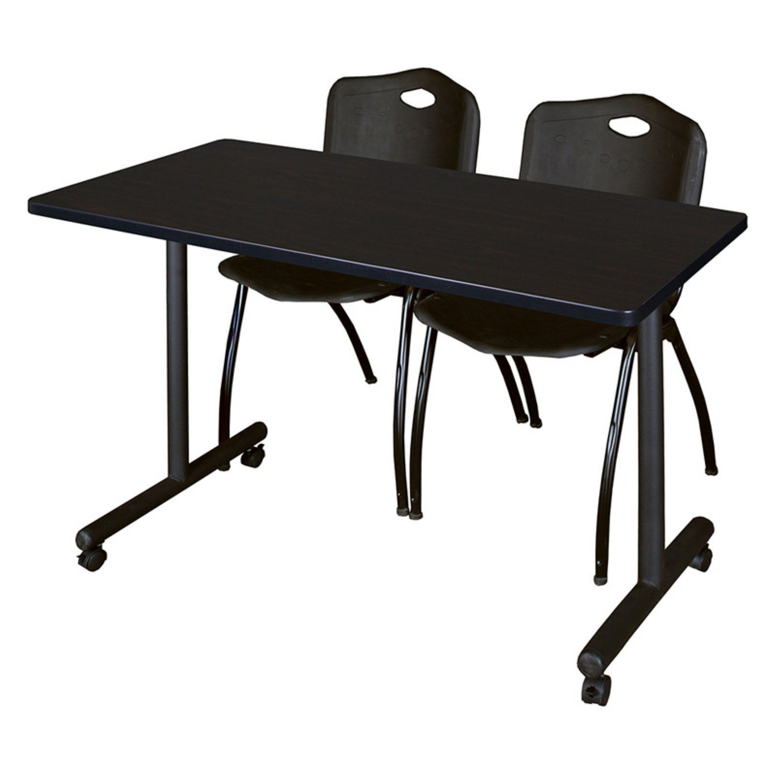 Regency Kobe Mobile Training Table with 2 Stackable M Chairs