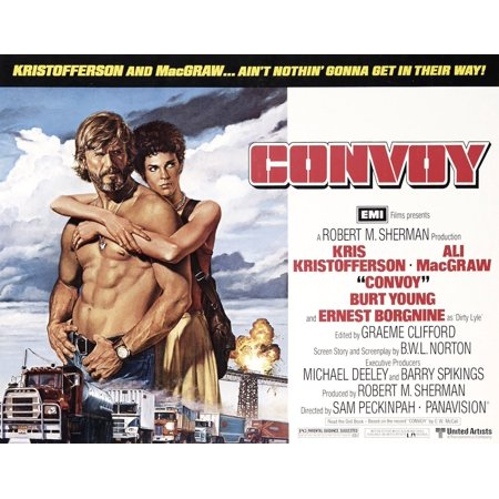 Alix Collection - Convoy From Left Kris Kristofferson Ali Macgraw 1978  United ArtistsCourtesy Everett Collection Movie Poster Masterprint
