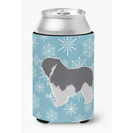 Winter Snowflake Polish Lowland Sheepdog Dog Can or Bottle Hugger - image 1 de 1
