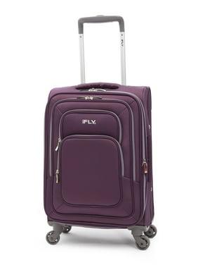 "iFLY Softside Luggage Jewel 20"" Carry-On Luggage, Purple"