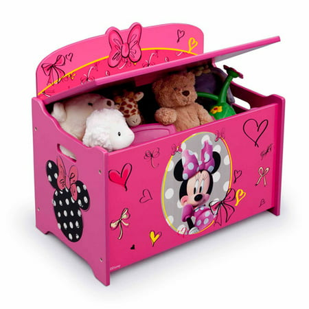Best Disney Minnie Mouse Deluxe Wood Toy Box by Delta Children deal