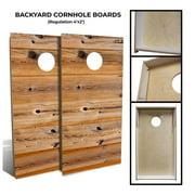 "Slick Woody's 48"" Backyard Shiplap Cornhole Board Set with 8 Bags in Natural"