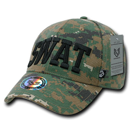 Rapid Dominance SWAT Camo Digital Camouflage Military Law Caps Hats - Swat Hats