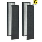 Pack of 2 - True HEPA Filter C for GermGuardian FLT5000 FLT5111 AC5000