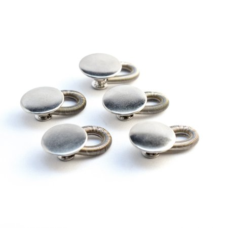 """Pregnancy 5-Pack Spring Button Pant Extender - Premium, Sturdy Metal - Adds up to 2"""" instantly!"""