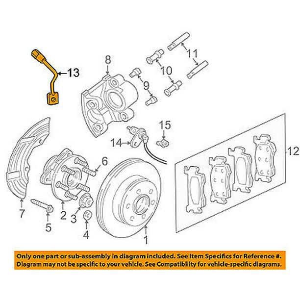 Dodge Chrysler Oem 98 99 Durango Front Brake Flex Hose 52008993 Walmart Com Walmart Com