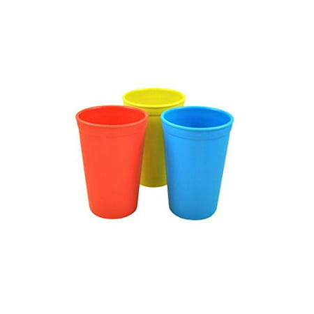 Re-Play 3 Pack Drinking Cups - Yellow/Blue/Red - Kid Cups