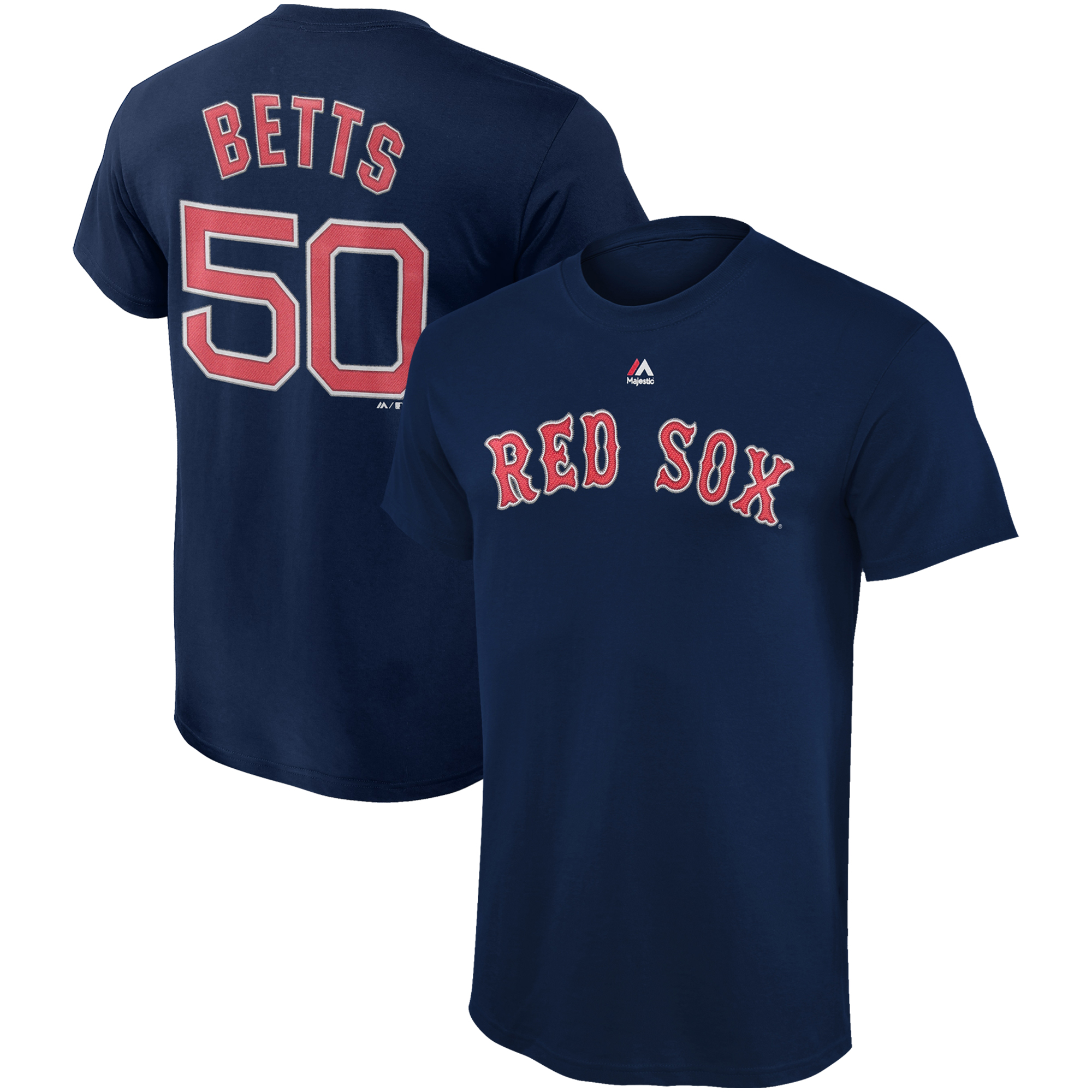 Mookie Betts Boston Red Sox Majestic Youth Player Name & Number T-Shirt - Navy