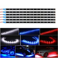 6-pack Waterproof 12inch / 15 DC12V Motor LED Strip Underbody Light For Car Motorcycle MotoBike