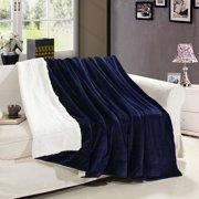 Fleece Throw Blanket - Super Soft Fuzzy Reversible Flannel Fleece Sherpa - Lightweight Bed Throw