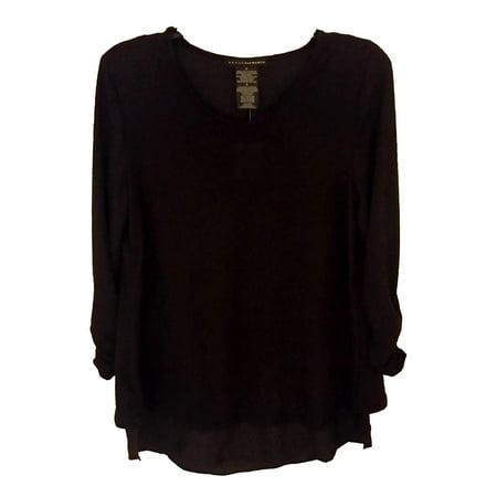 Element Top - Grace Elements Womens Size X-Large 3/4 Sleeve Top, Black