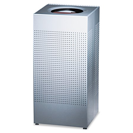 Rubbermaid Commercial Designer Line Silhouettes Receptacle, Steel, 16gal, Silver -