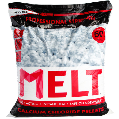 Snow Joe MELT Calcium Chloride Pellets Ice Melter (50 lb. Resealable Bag) ��� MELT50CCP