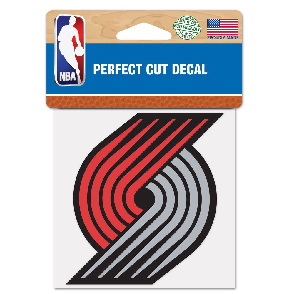 Portland Trail Blazers Official NBA 4 inch x 4 inch  Die Cut Car Decal by WinCraft