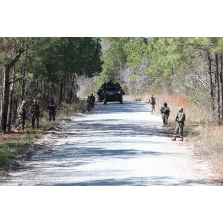 Light Armored Reconnaissance - LAMINATED POSTER Marines with the 2nd Light Armored Reconnaissance Platoon, Battalion Landing Team, 2nd Battalion, 2n Poster Print 24 x 36