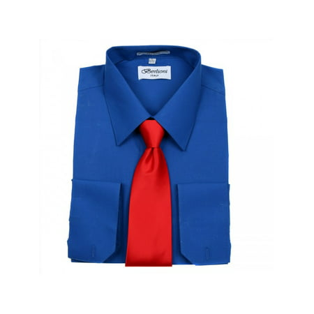 Men's Berlioni Business Tie Set Dress Shirt And