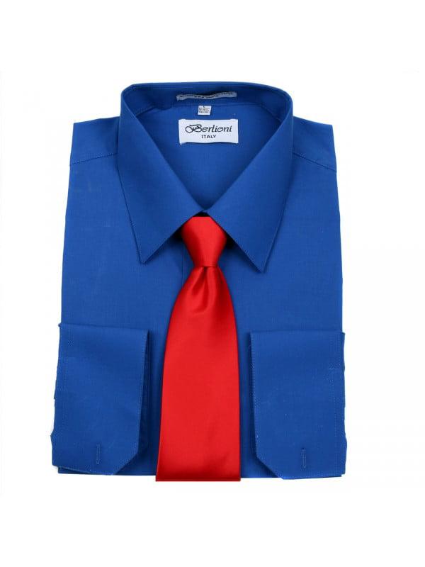 Men's Berlioni Business Tie Set Dress Shirt And Tie