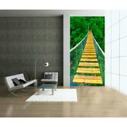 "Startonight Mural Wall Art Bridge to the Jungle Illuminated Nature Wallpaper Photo 5 Stars Gift Large 4 x 25,2 '' x 50,4 '' Total 50,4""x 100,8''"
