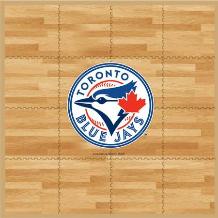 MLB Toronto Blue Jays Portable Foam Puzzle Tailgate Floor Mat by