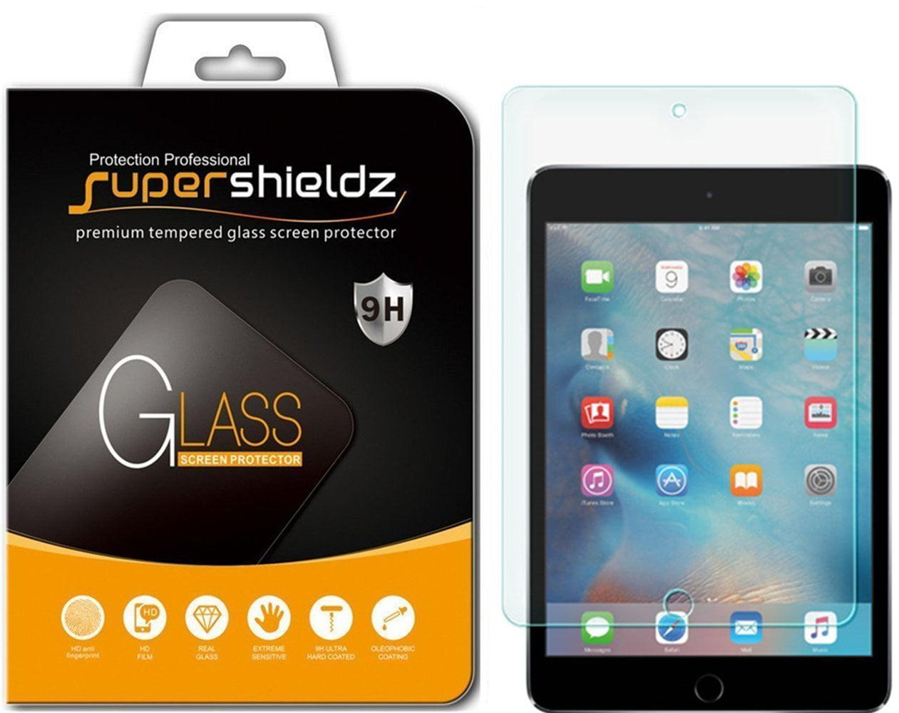 2 pack supershieldz for apple ipad mini 5 2019 ipad mini 4 tempered glass screen protector