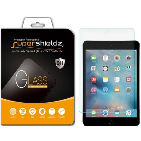 [2-Pack] Supershieldz for Apple iPad Mini 5 (2019) / iPad Mini 4 Tempered Glass Screen Protector, Anti-Scratch, Anti-Fingerprint, Bubble