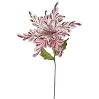 "Vickerman 31"" Pink Poinsettia, 15"" Flower 3/Bag"