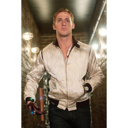 Ryan Gosling Cool Iconic Pose Drive In Silver Jacket 24x36 Poster](Ryan Gosling Drive Jacket Halloween)