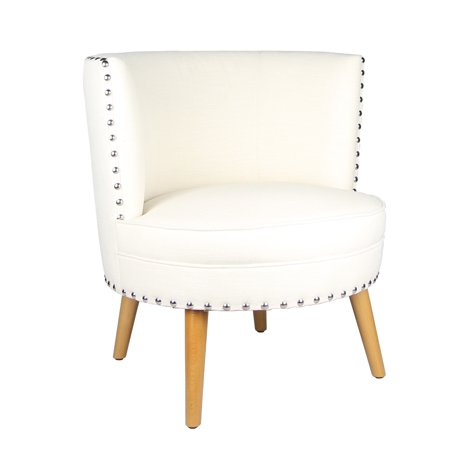 Joveco Fabric Leisure Chair with Round Back Design ()
