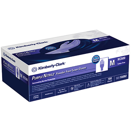 Safeskin Purple Nitrile Powder-Free Exam Gloves, Large