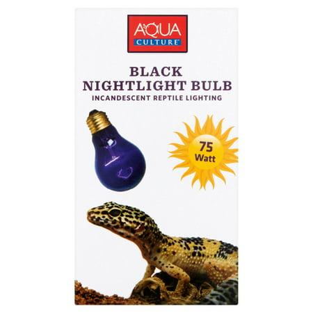 (2 Pack) Aqua Culture 75 Watt Black Nightlight Bulb