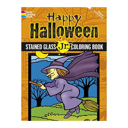 Happy Halloween Stained Glass Jr. Coloring Book](Bugs Bunny Halloween Coloring Pages)