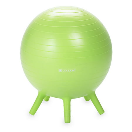 Gaiam Kids Stay-N-Play Balance Ball, Lime, 45cm