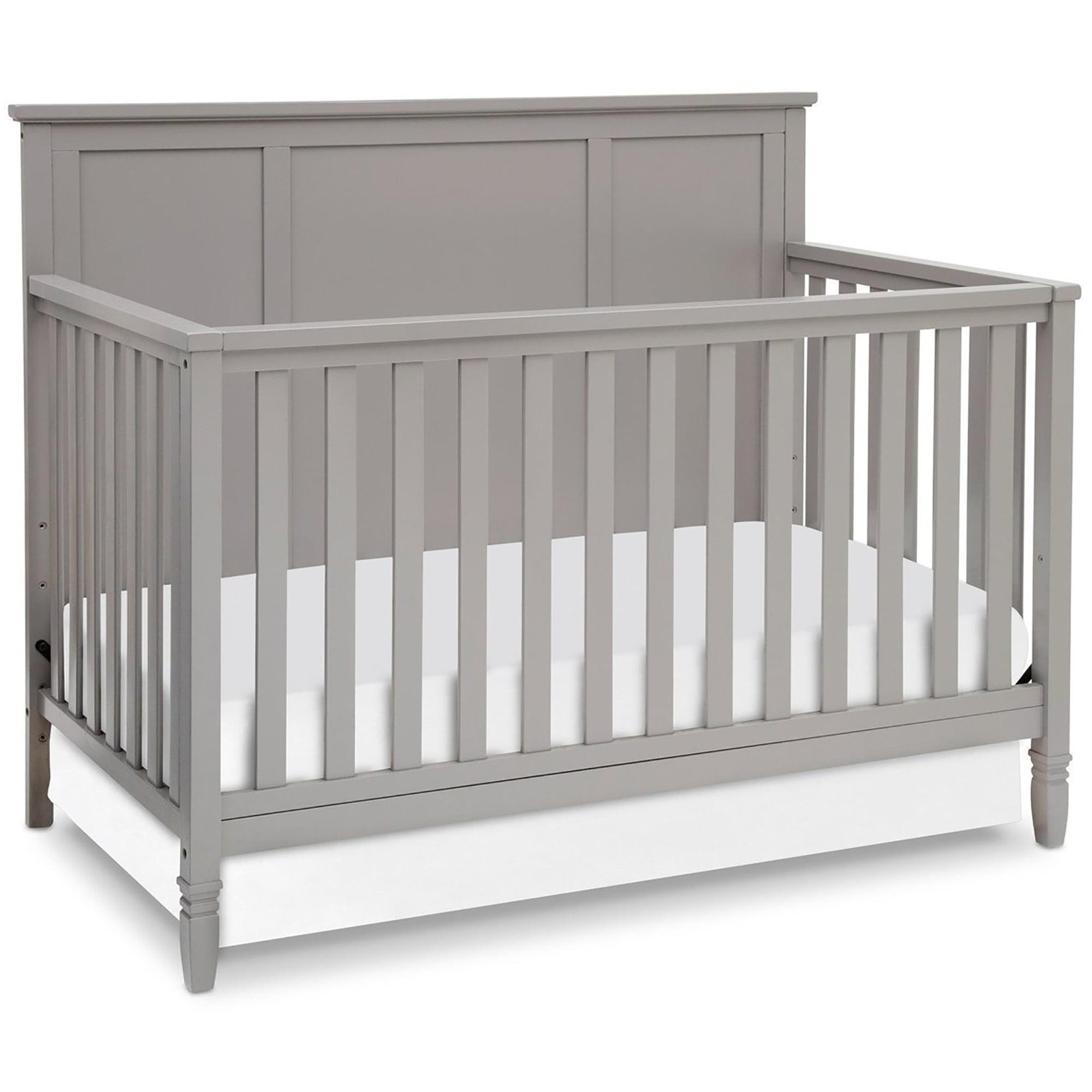 Delta Children Epic 4 In 1 Convertible Crib Gray Walmart Com Walmart Com