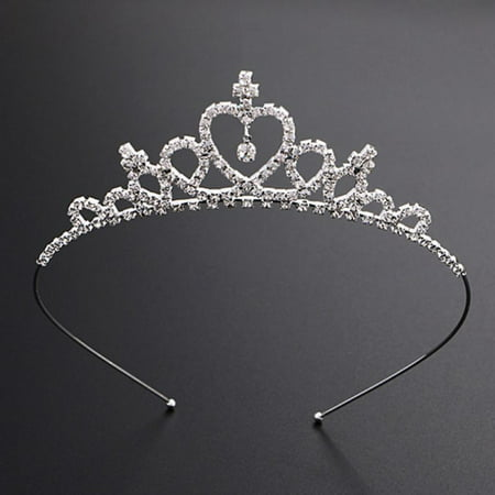 Wedding Rhinestone Bridal Princess Silver Crystal Hair Tiara Headband Crown Comb Prom for Party Wedding Pageantfor Girls Dress Up Costumes Accessories